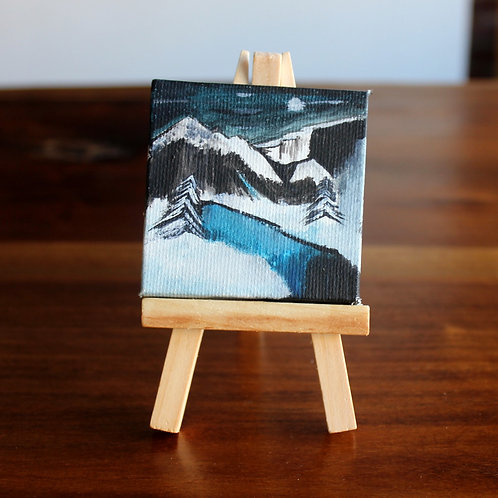 Snowy Mountains Tiny Canvas
