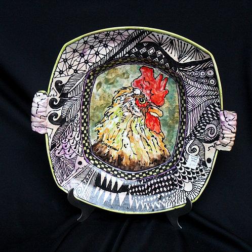 Rooster Head Platter