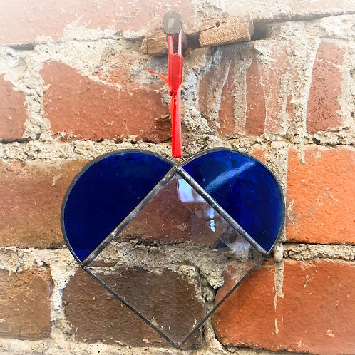 Blue Bevel Heart