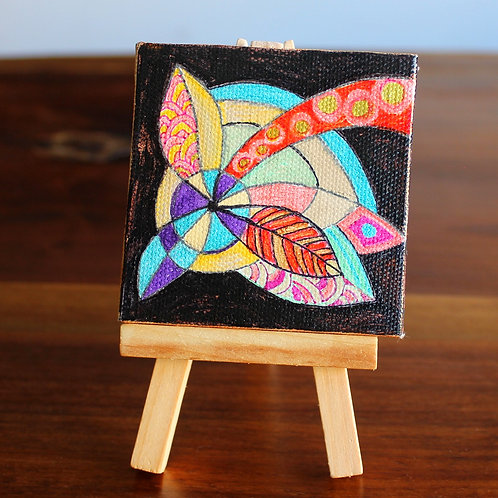 Shooting Star Tiny Canvas