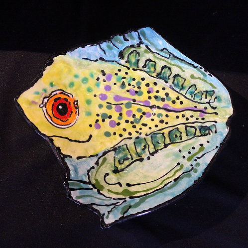 Small Green Frog Plate