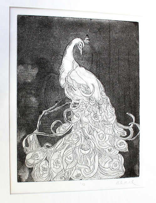 Peacock (2/3 LITHOGRAPHIC PRINT)