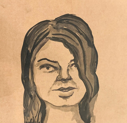 Spinning Ink Record Faces: Untitled 3