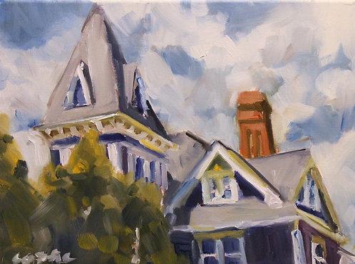 Blue House Plein Air Study 1