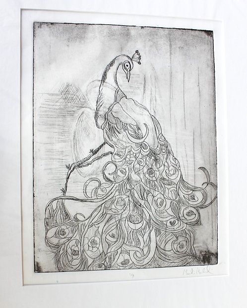Peacock (1/3 LITHOGRAPHIC PRINT)