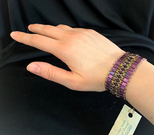 Petite Lavender Tiles Bracelet