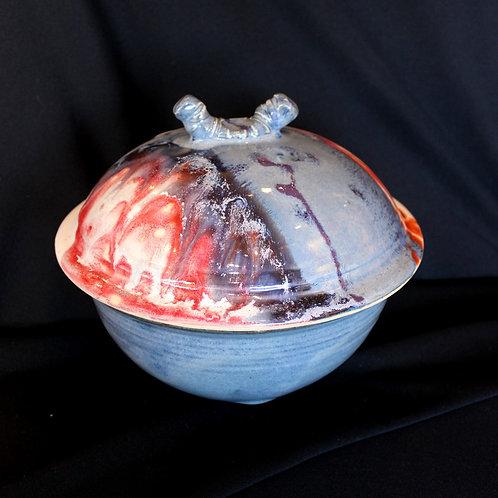 Circular Casserole, Blue: Stoneware
