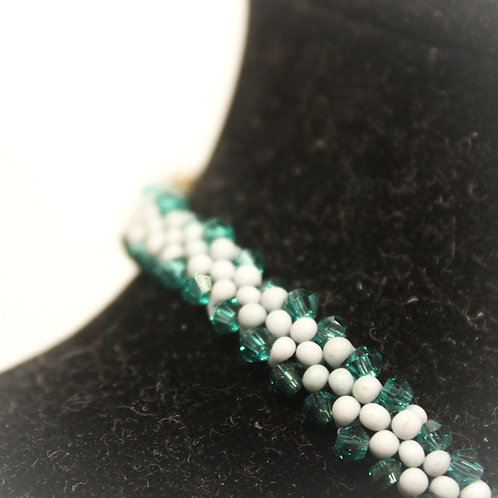 Seafoam Green Peanut Necklace