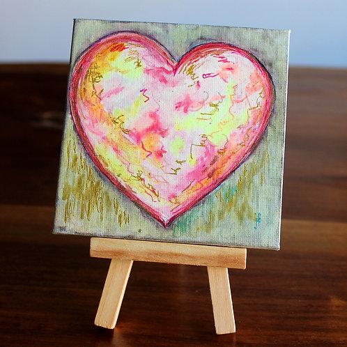 Rose Heart Tiny Canvas