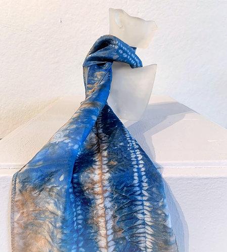 Blue/Brown Shibori Scarf