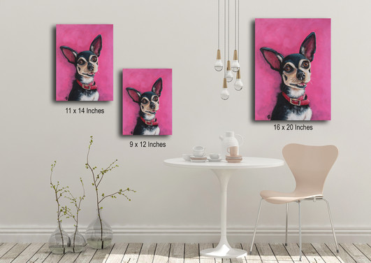 ORIGINAL ACRYLIC ON CANVAS COMES IN 3 SIZE OPTIONS