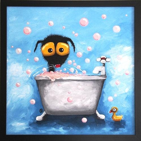 STRESSIE CAT IN BATH TUB