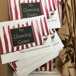 THE CLOWNING CROWS BOOK BY LUCIA STEWART