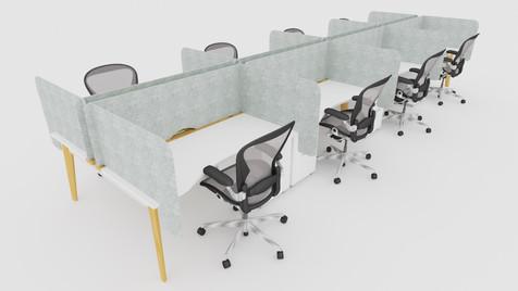 Arc desk top screen sets, bench desk lig
