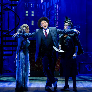 Crazy For You - Gershwin and Brad Carol.  Watermill / Jamie Wilson production National tour 2018  Kate Milner-Evans is formidable as Bobby's battleaxe mother, hat feathers bristling dangerously.  March 8th 2018 Broadway World