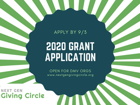 2020 Grant Application is Open!