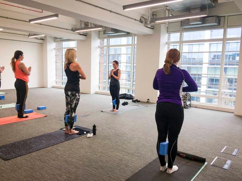 Yoga Class At The Hub