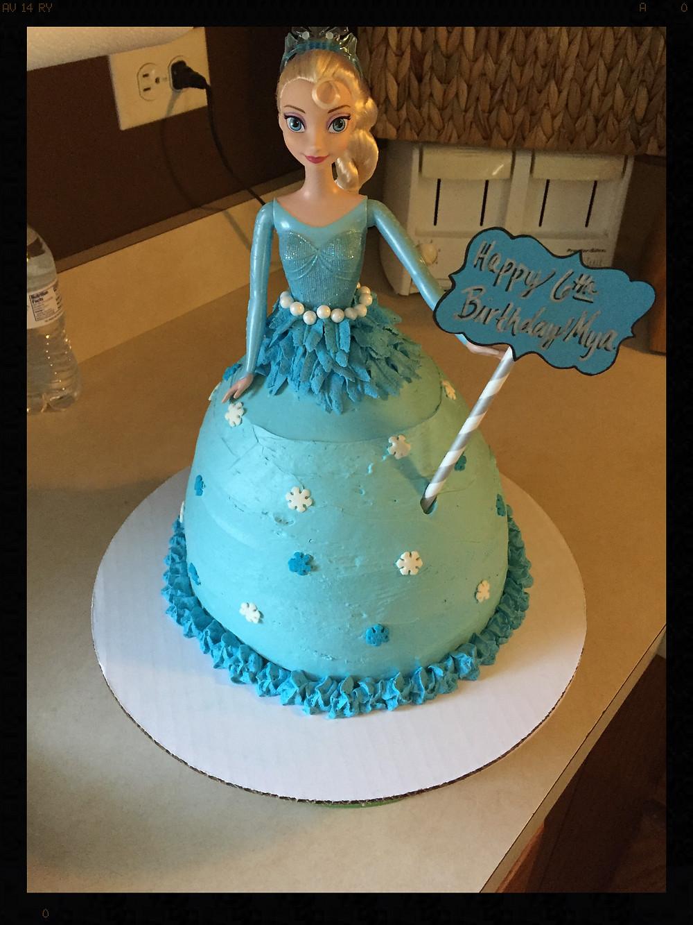 """Elsa """"Doll"""" Cake"""