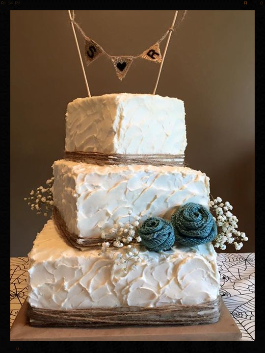 Rustic wedding cake!