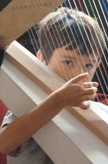 harpe en carton, cardboard harp