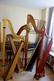harpes anciennes, historical harps
