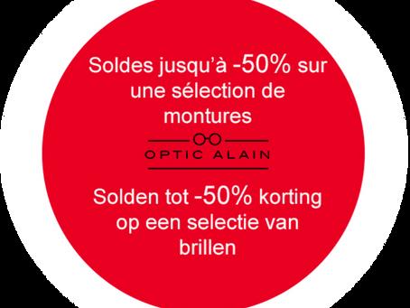 Soldes chez Optic Alain! / Solden bij Optic Alain!