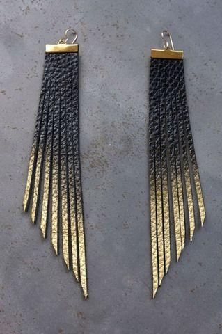 Fringe Leather Earrings - Thur Apr 29th