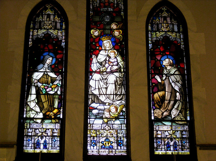 Window in Sanctuary facing cloister
