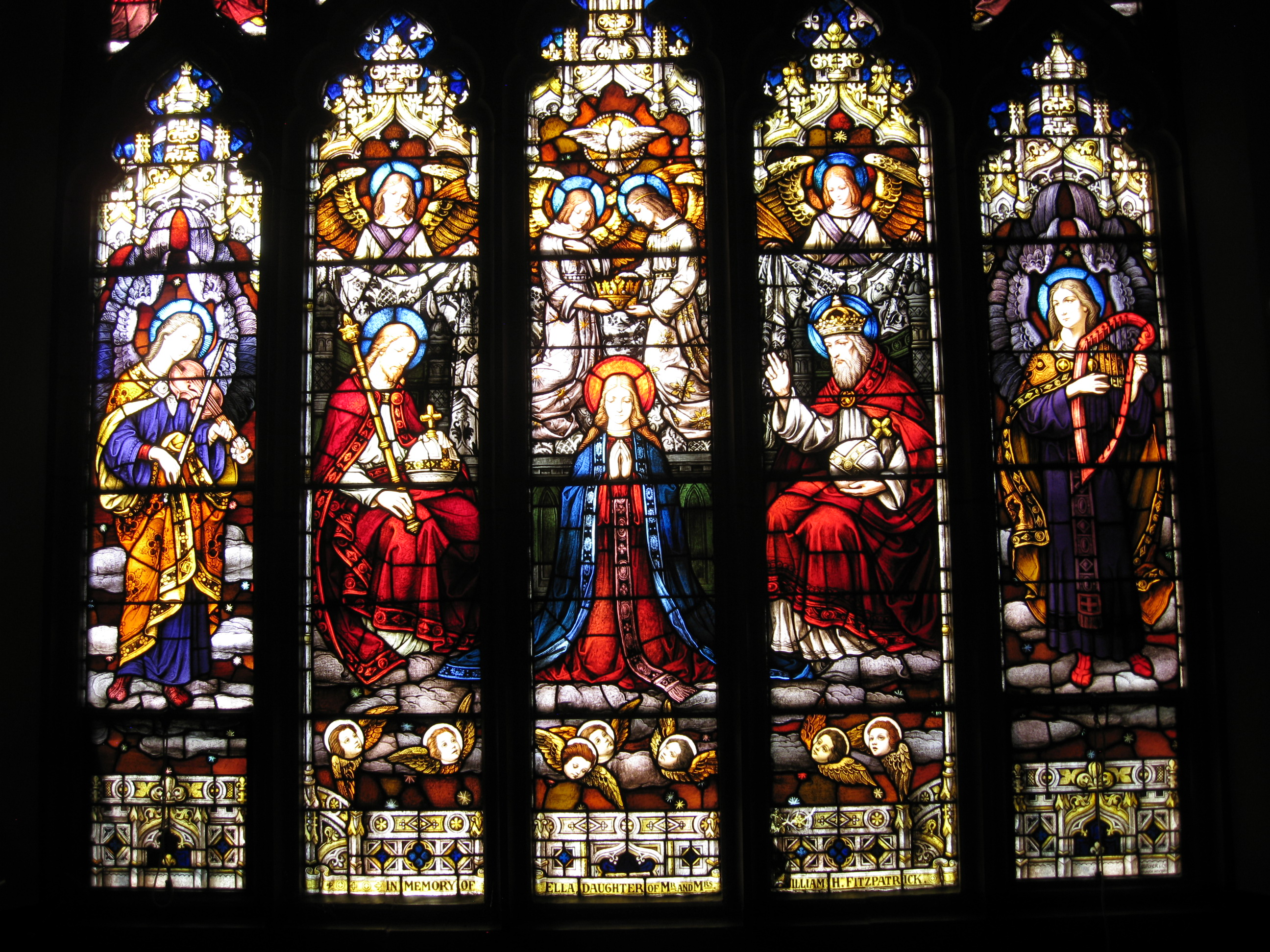 Choir loft window - Coronation