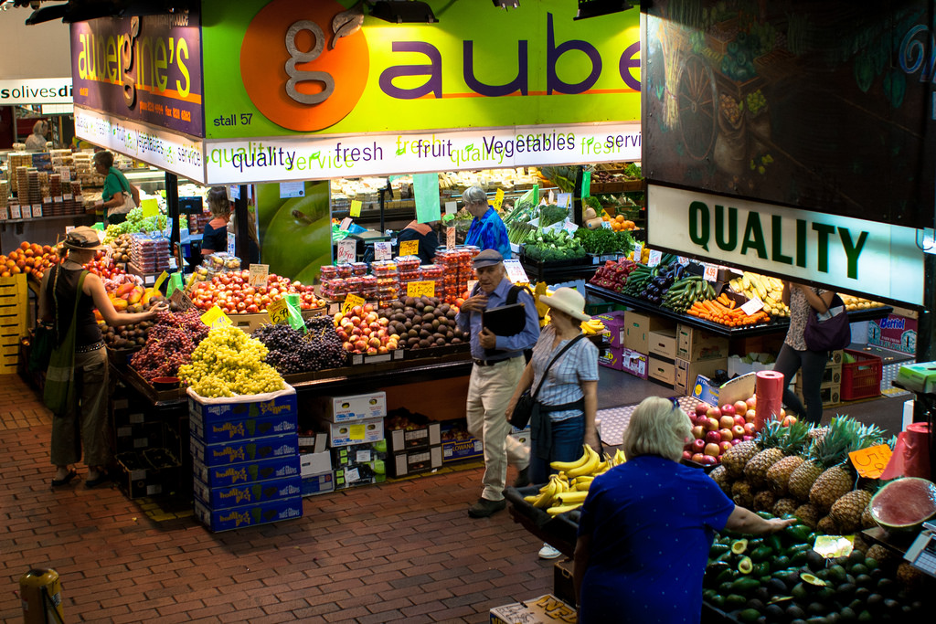 Fresh fruits and veg at Adelaide Central Market