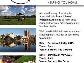 Join me in KL to talk about your move to Adelaide