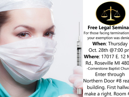 FREE Legal Seminar:  Work Place Mandates