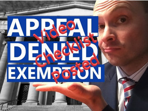 Appeal a Denied Religious or Medical Exemption: VIDEO Checklist