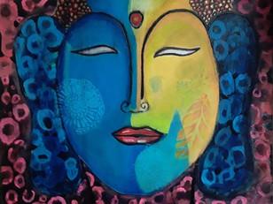 Buddha Goes Blue