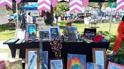 Display table at the outdoor Art Festival