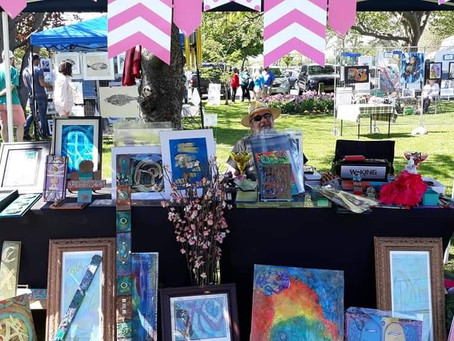 """Babylon Village Arts Council's """"Art by the Falls"""" Features Local Long Island Arts & Ally's Happy Art"""