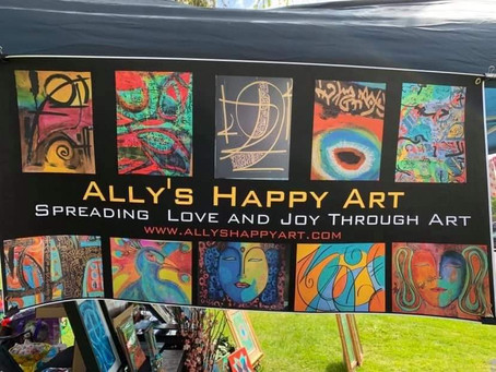 Ally's Happy Arts welcomed by Arts by the Falls, Babylon Village, NY