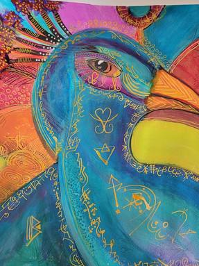 Calligrafitti Peacock