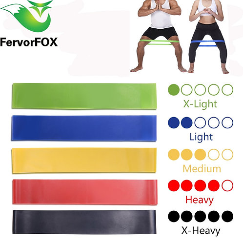 5 Colors Yoga Resistance Rubber Bands