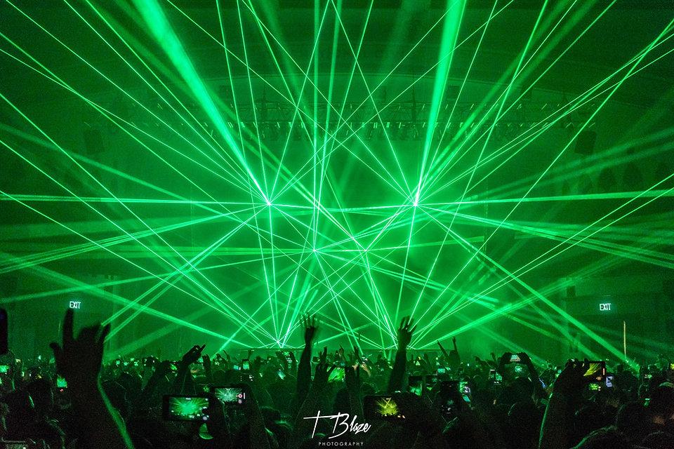 dj laser show
