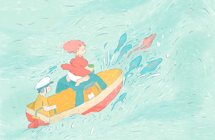 Ponyo Fan art Illustration by Petunia