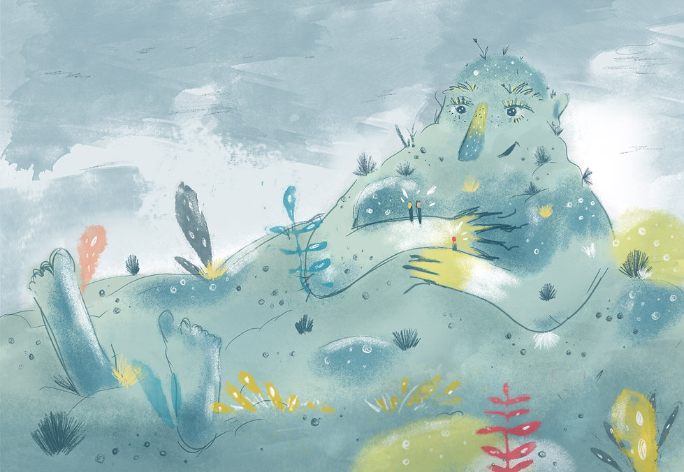 Illustration Illustrated Tale Giant by P