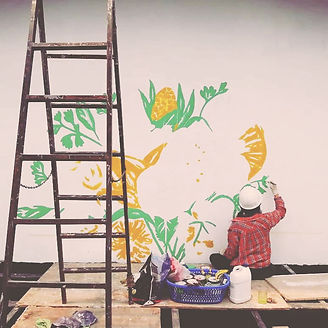 Mural Painting Process Antigua Guatemala