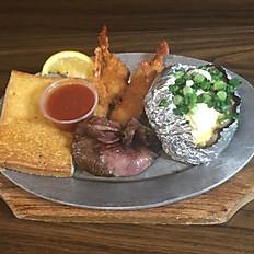 Bacon Wrapped Filet Mignon & Shrimp