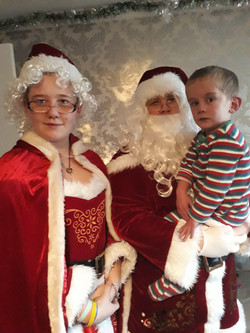 Santa, Mrs Clause and the heart of the A