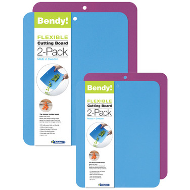 Bendy! Flexible Cutting Board 2-Pack COMBO Colors