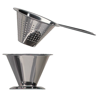 Traditional Swedish Tea Strainer with Drip Cup