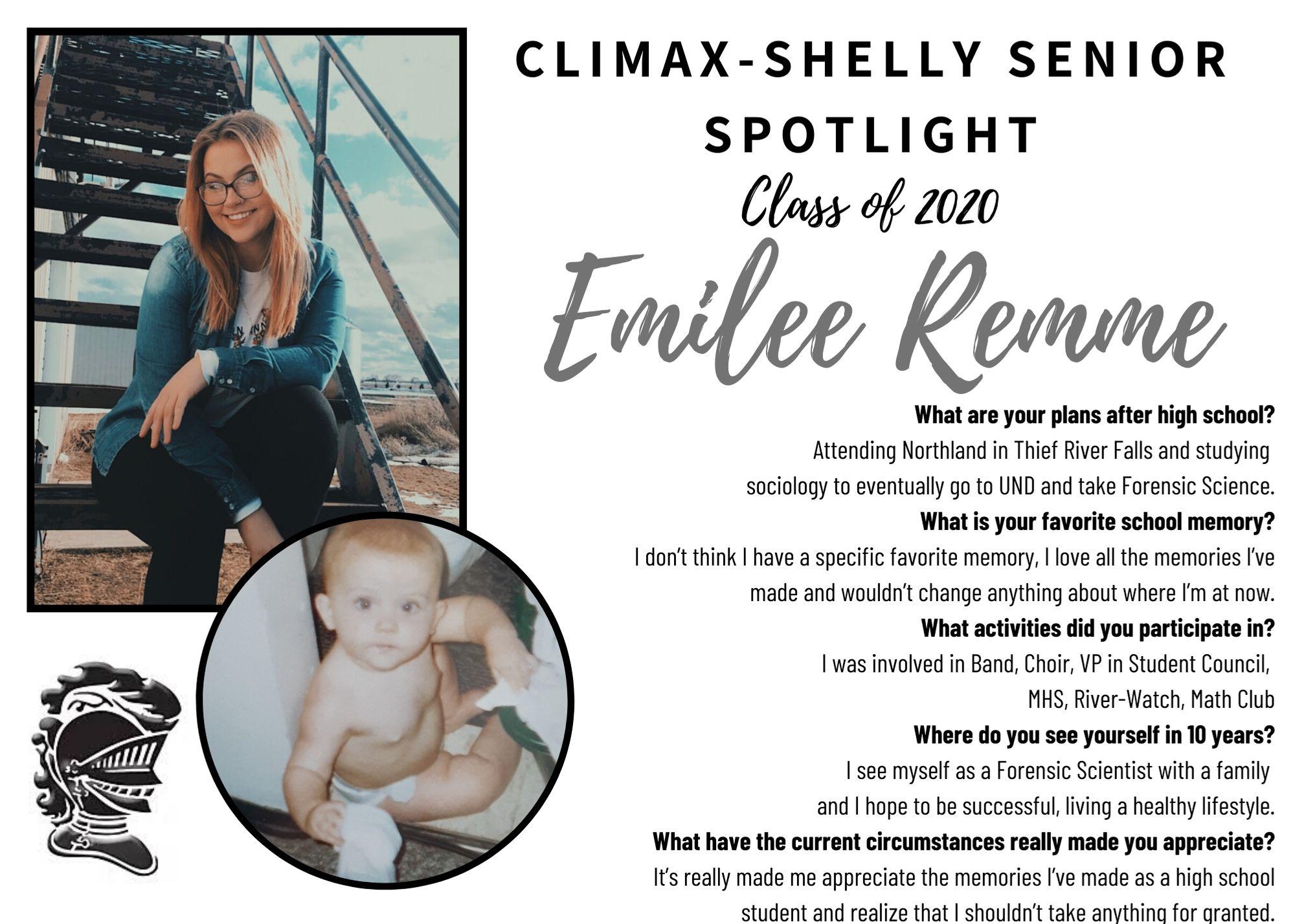 Emilee Remme Senior Spotlight