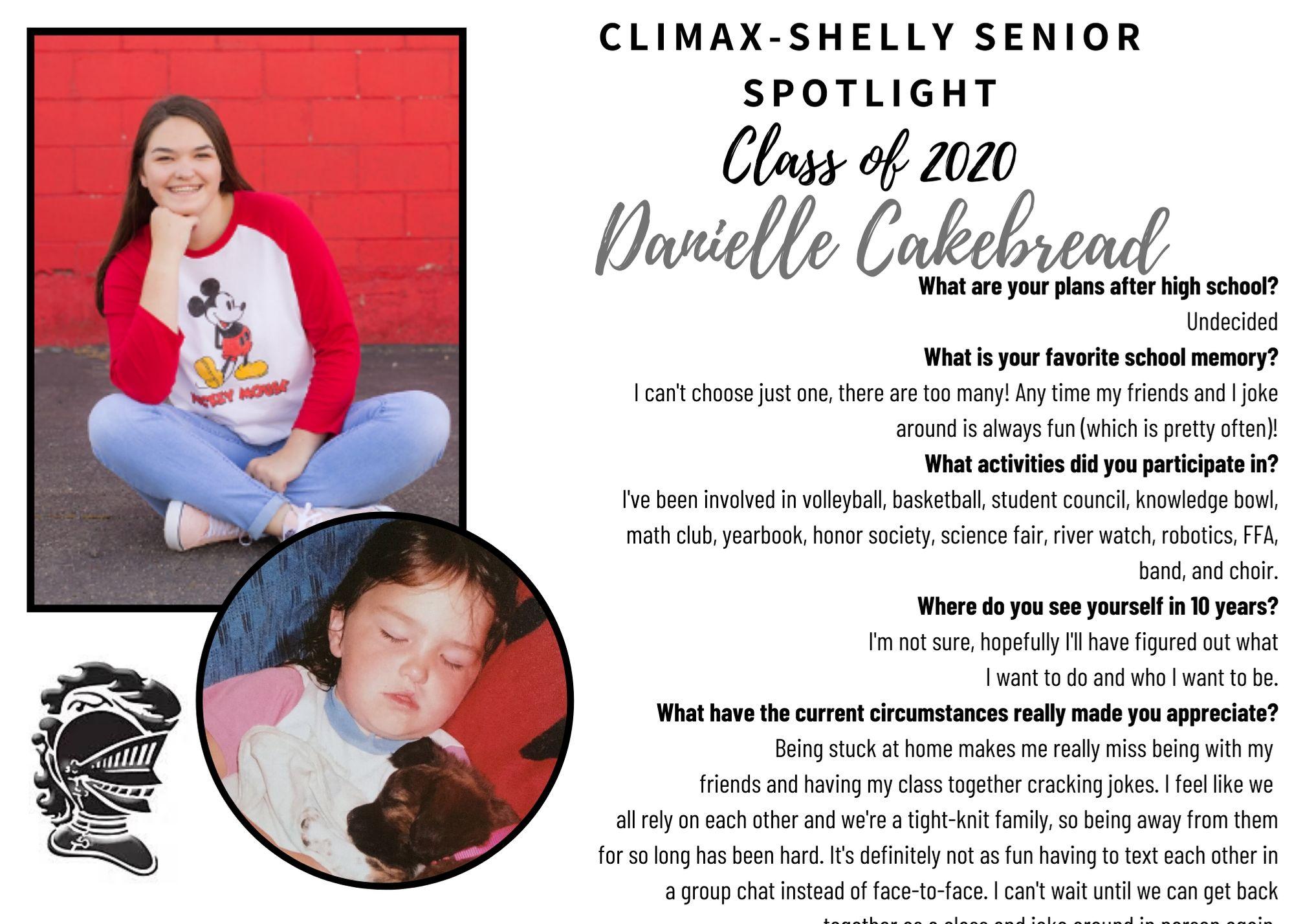 Danielle Cakebread Senior Spotlight