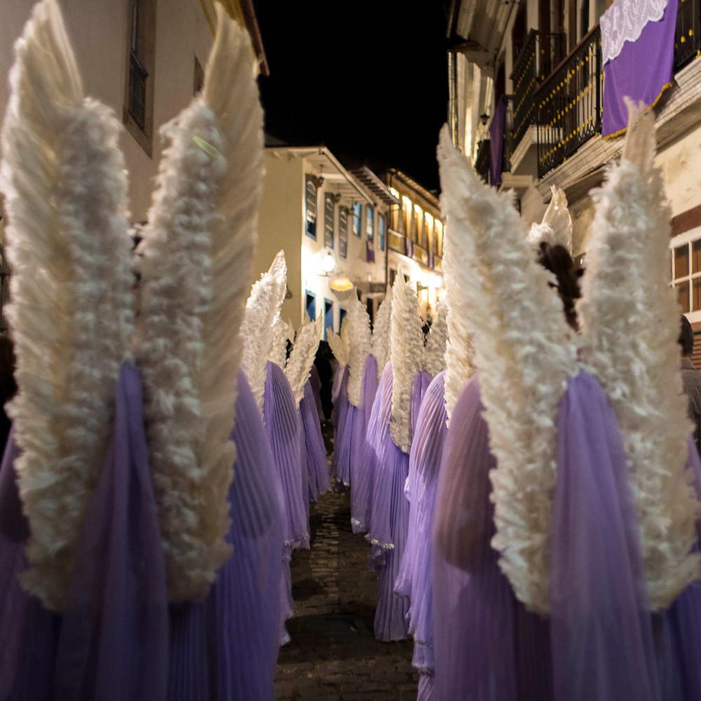 Anjos na Semana Santa em Ouro Preto